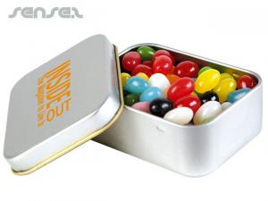 Metal Tins with Assorted Mini Jelly Beans (50g)