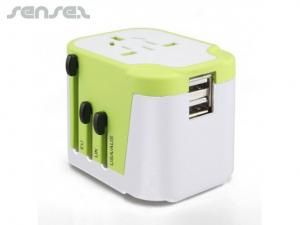 World Dual USB Travel Adapters