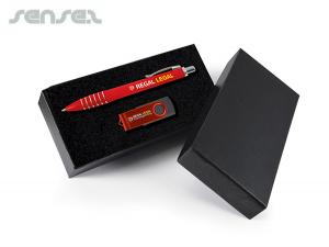 Max Corporate USB + Pen Gift Sets