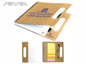 Eco Recycled Notebooks Mit Notizblöcken Und Stift