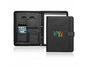 Soft Pu Leather Zipper Tech Compendiums (A4)
