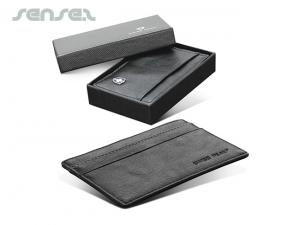 Deluxe Leather Business Card Holders