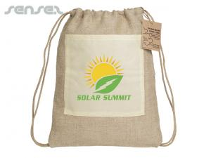 Eco Jute Drawstring Backpacks