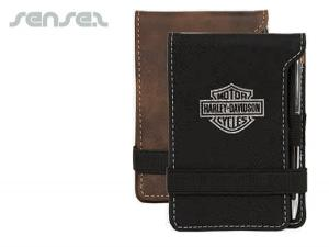 Suede Leatherette Pocket Memo Sets