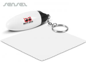 Capsule Key Rings With Microfibre Cloth