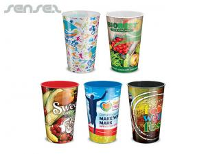 Full Colour Plastic Cups 700ml