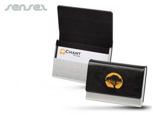 Leather & Steel Business Card Holders