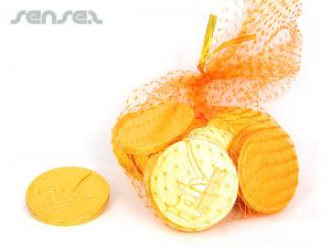 Large Choc Coin Bags