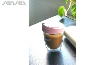 Thermo Takeaway Glass Coffee Cups 237ml