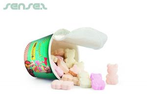 Cups With Effervescent Lollies Or Chocolate Coated Peanuts (40g)