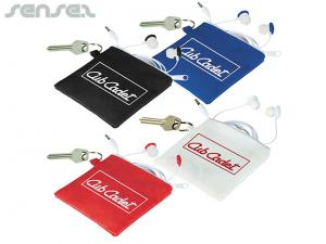 Fresh Earphones With Keyring Pouch