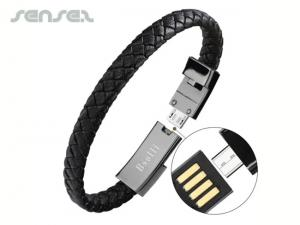 Leather USB Wristbands
