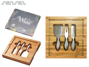 Fromage Wood And Stainless Knife Cheese Sets