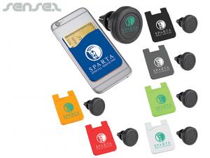 Duo Silicon Magnetic Phone Mounts And Wallets