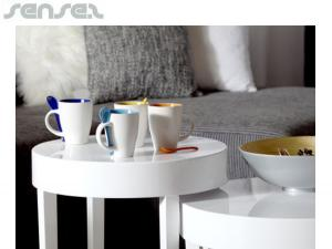 Ceramic Coffee Mugs With Spoon (300ml)