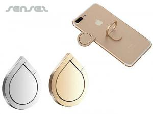 Metal Teardrop Mobile Phone Ring /Stand Holders