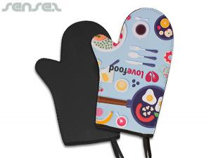 Full Colour Printed Neoprene Oven Mitts