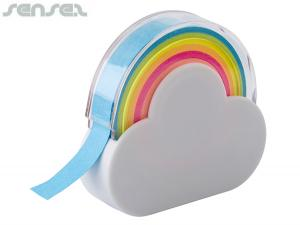 Rainbow Memo Tape Dispensers