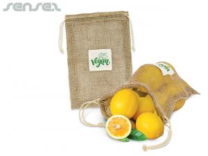 Biodegradable Eco Enviro Jute Mesh Produce Bags