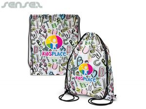 Explode Full Colour Polyester Drawstring Backpacks
