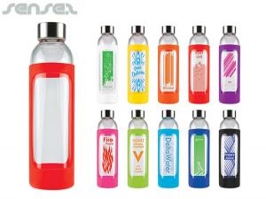 Mecca Glass Bottles With Silicone Sleeve (595ml)