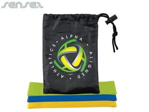 Go Fitness Resistance Bands in Drawstring Pouch