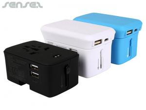 Ultra Power Bank With International Travel Adapters