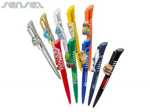 Plastic 3D Ball Pens With Stunning Custom Moulded Clip