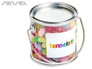 Clear Bucket Filled With JELLY BELLY Jelly Beans (180g)