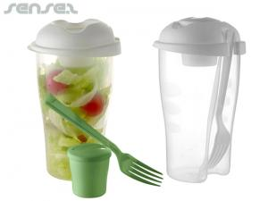 Lunch Salad Shaker Cups mit Gabel (900ml)