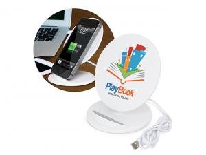 Disc Full Colour Wireless Charger Phone Stands