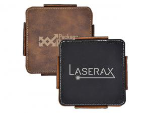 Axel PU Leather Coasters (Set Of 4)