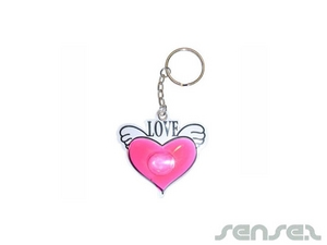liquid filled keyring