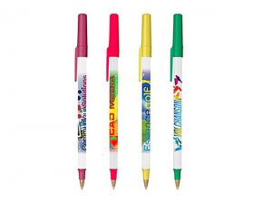 Frosted Plastic Bic Pens