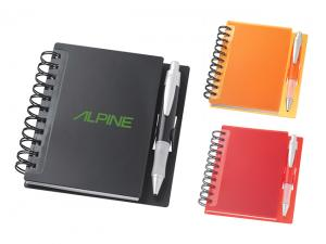 Coloured Spiral Memo Notebooks With Pen