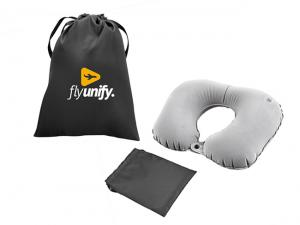 Sueded Inflatable Travel Pillows