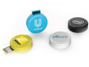 Puk Round USB Sticks (4 GB)