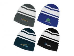 Embroidered Stripped Beanies