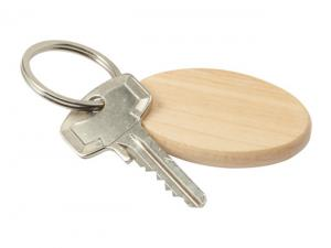 Beechwood Oval Wood Keyrings