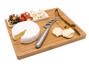 Bamboo Cheeseboard Snack Sets