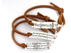 Friendship PU leather Wristbands