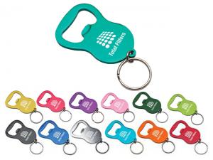 Anodized Aluminium Bottle Opener Keyrings