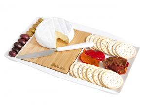 Large Bamboo & Ceramic Serving Platters