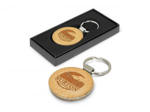 Beech Wood Eco Keyrings (Round)