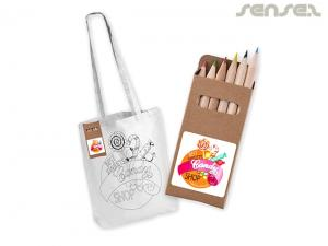 Long Handle Creative Cotton Colouring Bags
