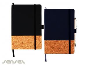 Hard Cover Black & Cork Journal Notebooks