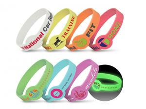 Zircon Silicone Wrist Bands (Glow in the Dark)
