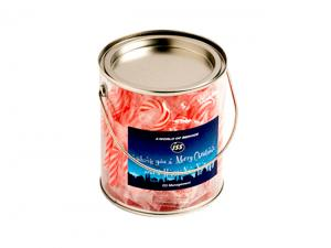 Candy Cane Filled Tins (x 40)