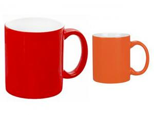 Classic Red Orange Mugs (300ml)