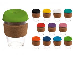 India Glass Cup With Cork Bands (340ml)